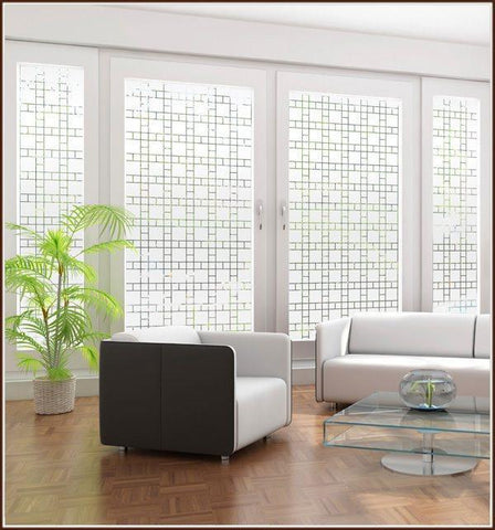 Boardwalk Semi Privacy Window Film - Window Film World