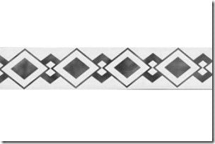 "1.75"" x 78"" Interlocking Diamonds Border 