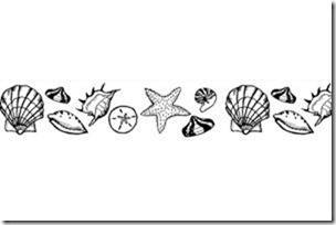 Seashell Border Etched Glass Decals - Window Film World