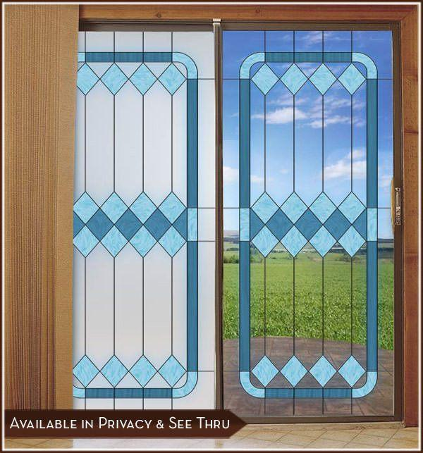 Cambridge 1 | Stained Glass Window Film - Privacy or See Through (Static Cling) - Window Film World