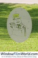 "4"" x 6"" Oval Snowman 