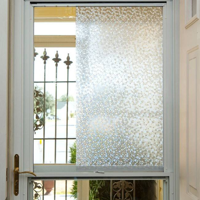 Textured Cobblestone Decorative Window Film - Discontinued - Window Film World