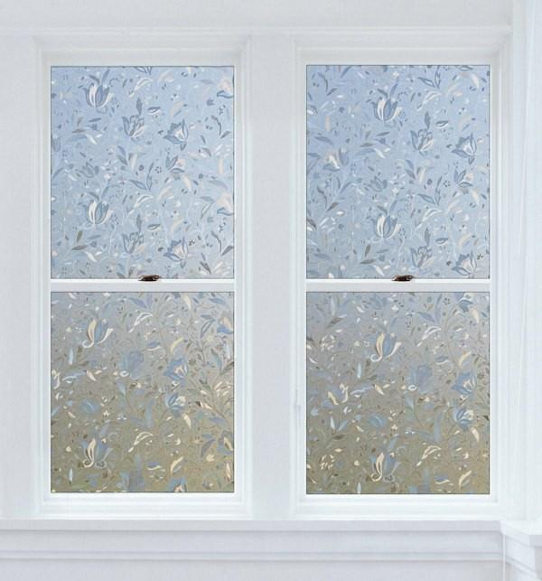 Cut Glass Flowers | Privacy (Static Cling) - Window Film World