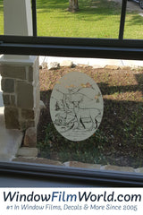 Oval Deer Scene | (Static Cling) - Window Film World