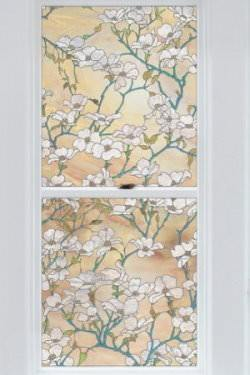 Dogwood Blossom |  Semi -Privacy (Static Cling) - Window Film World