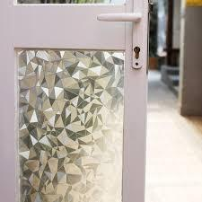 EZ Film 3D Diamonds Privacy | Static Cling - Window Film World