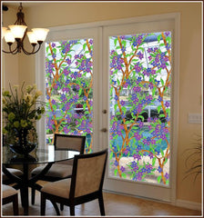 Biscayne See-Thru | Stained Glass Film (Static Cling) - Window Film World