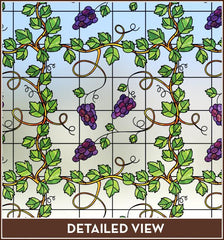 Grapevine Stained Glass | Privacy (Static Cling) - Window Film World