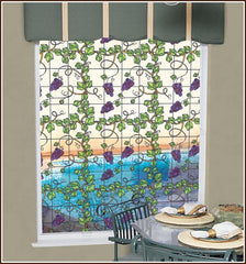 Grapevine Stained Glass | See Through (Static Cling) - Window Film World