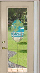 Island Oasis Stained Glass Window Film - Privacy or See Through - Window Film World