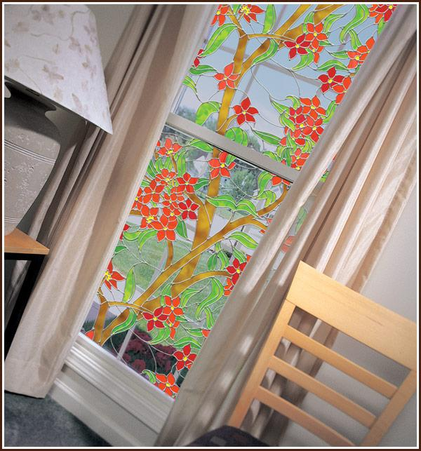 Mandalay Stained Glass Window Film| See - Through (Static Cling) - Window Film World