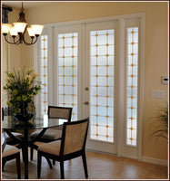 Monterey Sun Stained Glass | Privacy (Static Cling) - Window Film World
