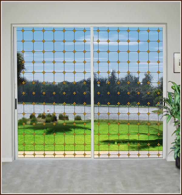 Monterey Sun Stained Glass | Clear (Static Cling) - Window Film World