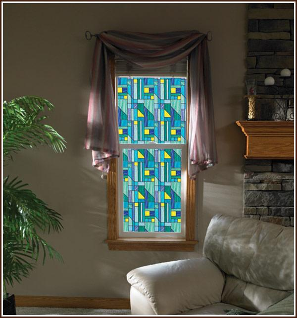 Rhapsody Stained Glass | Privacy(Static Cling) - Window Film World