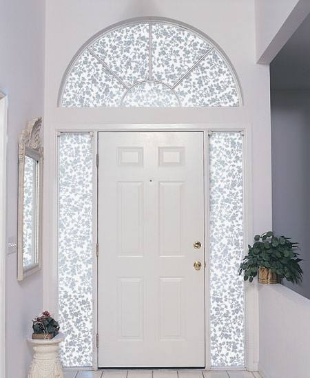 Privacy Window Film Frosted Etched Glass Eden Floral