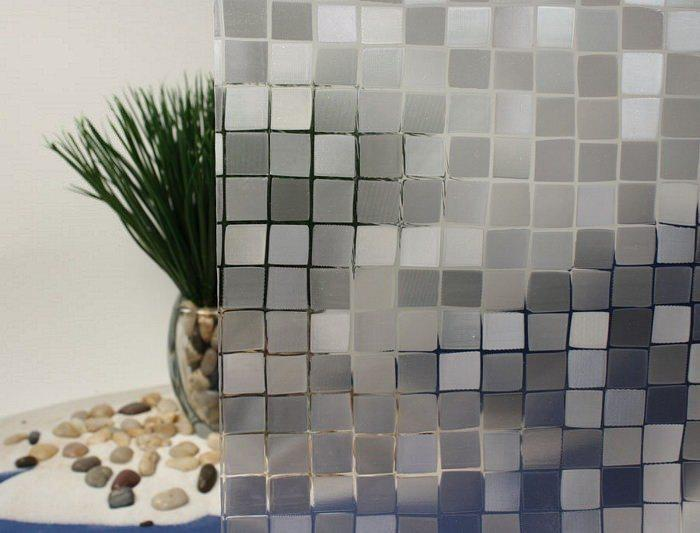 Decorative Window Film Cut Glass Mosaic Textured