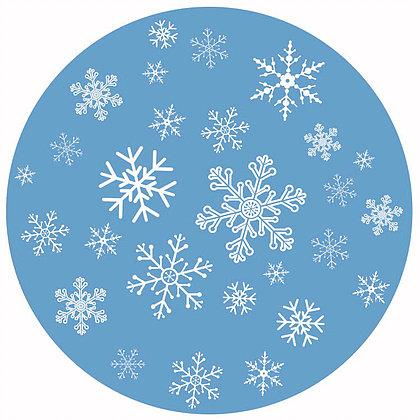 "Snowflakes Screen Door Magnet (5.75"" x 5.75"") - Window Film World"