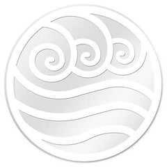 "White and Clear Water Symbol Glass Door Decal (5.75"" x 5.75"") - Window Film World"