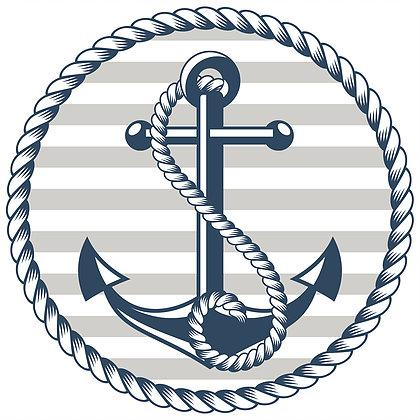 "Anchor Glass Door Decal (5.75"" x 5.75"") - Window Film World"