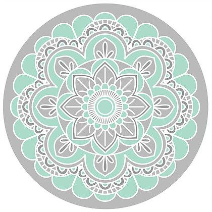"Teal Mandala  Screen Door Magnet (5.75"" x 5.75"") - Window Film World"