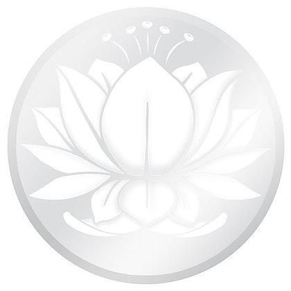"White and Clear Lotus Glass Door Decal (5.75"" x 5.75"") - Window Film World"