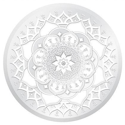 "White and Clear Mandala Glass Door Decal (5.75"" x 5.75"") - Window Film World"