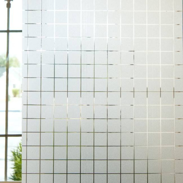 Semi Privacy Window Film Textured Frosted Sand Squares