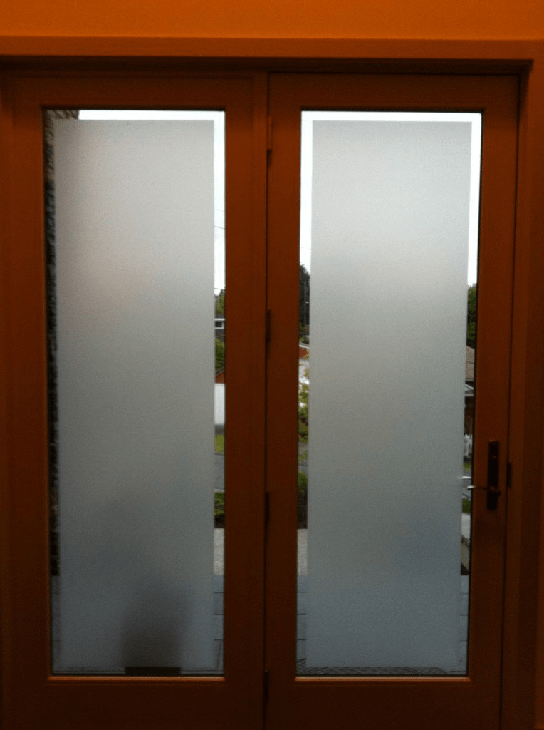 Frosted White Matte Static Cling Window Fim - Window Film World