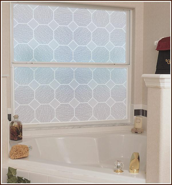 Privacy Window Film Frosted Glass Block Bathroom Film