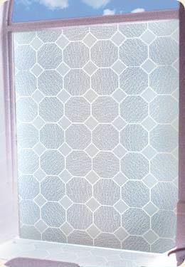 Glass Octagonal Block Privacy Window Film Static Cling