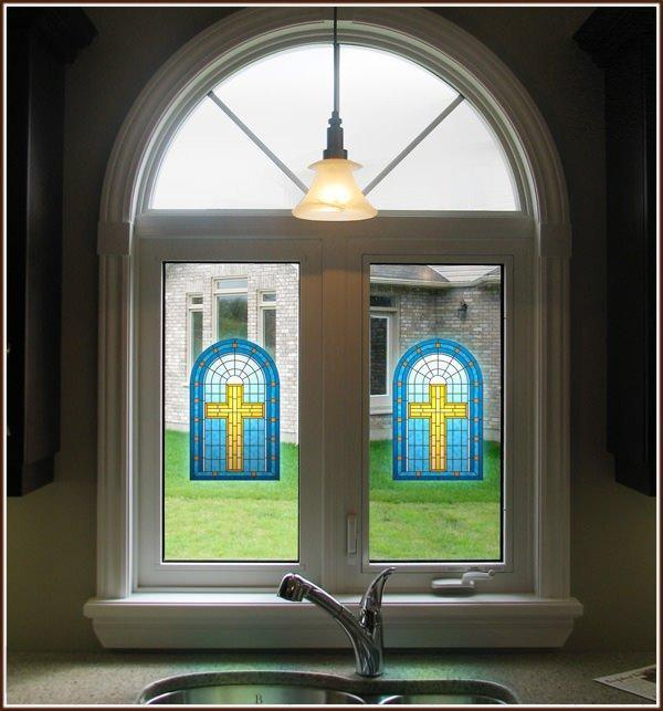 Grace | Privacy Stained Glass (Static Cling) - Window Film World