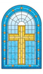 Grace Stained Glass Centerpiece Decal - Window Film World