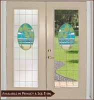 Island Oasis | Privacy or See Through (Static Cling) - Window Film World