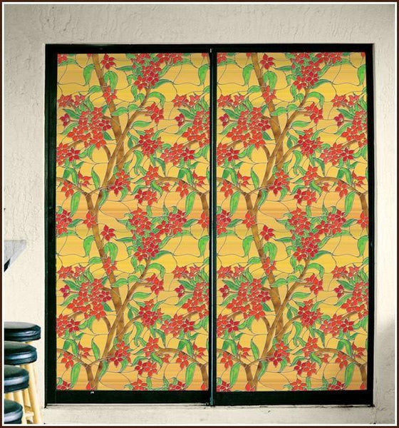 Decorative Privacy Window Film Stained Glass Mandalay