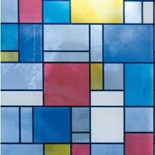 Mondrian Stained Glass Privacy Adhesive