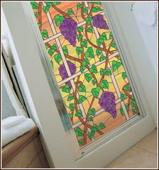 Napa Clear Stained Glass Window Film - Window Film World