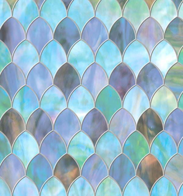 Privacy Window Film Stained Glass Peacock Privacy