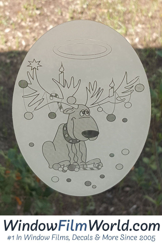 "4"" X 6"" Oval Reindeer Trouble  