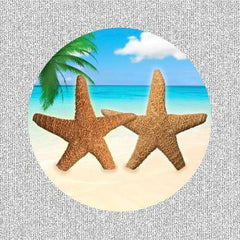 "Starfish Beach Screen Door Saver Magnets (5.75"" x 5.75"") - Window Film World"