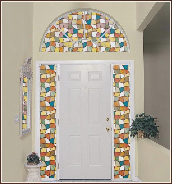 Savannah Stained Glass | Privacy Window Film (Static Cling) - Window Film World