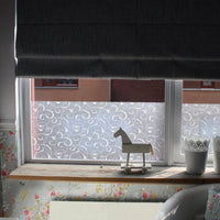 Scroll Flower | Privacy (Static Cling) - Window Film World