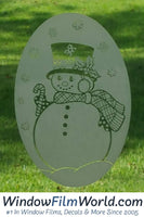 "4"" x 6"" Oval Snow Lady 