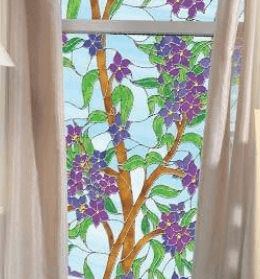 Biscayne Privacy | Stained Glass Film (Static Cling) - Window Film World