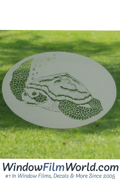 Oval Sea Turtle  | (Static Cling ) - Window Film World