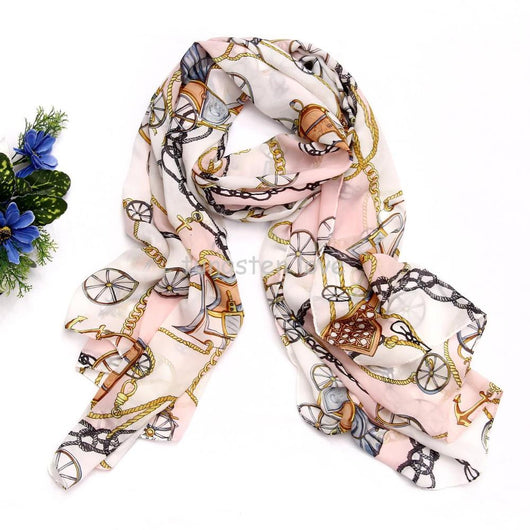2015 Fashion Women Ladies Scarves Scarf New Carriage Chain Pattern Shawl Scarf   for Women Lady Gift
