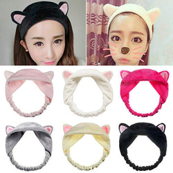 1PC Cute Fashion Women Girls Cartoon Cat Ears Soft Cotton Headband Hairband Party Halloween Headdress Hair Accessories 2016 Hot