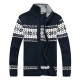 2015 New Autumn Winter Warm Men Cardigans Sweaters Casual Knitwear Stand Collar Mens Sweater Men Tops M-3XL