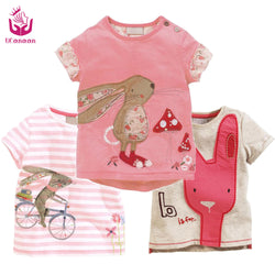 (3-7 years old) Children Girls  Summer Cartoon T-shirt Little  Baby Boys Cotton Cute Clothes Kids Sleeve Tee blouse shirts