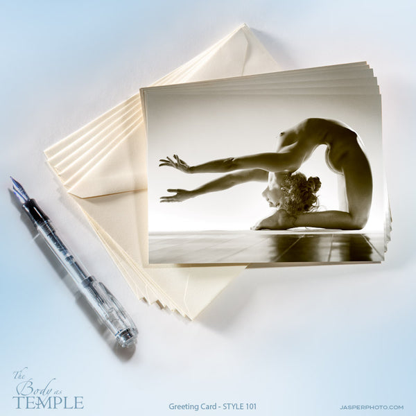 "Jasper Johal's art nude ""Body as Temple"" greeting card #101"