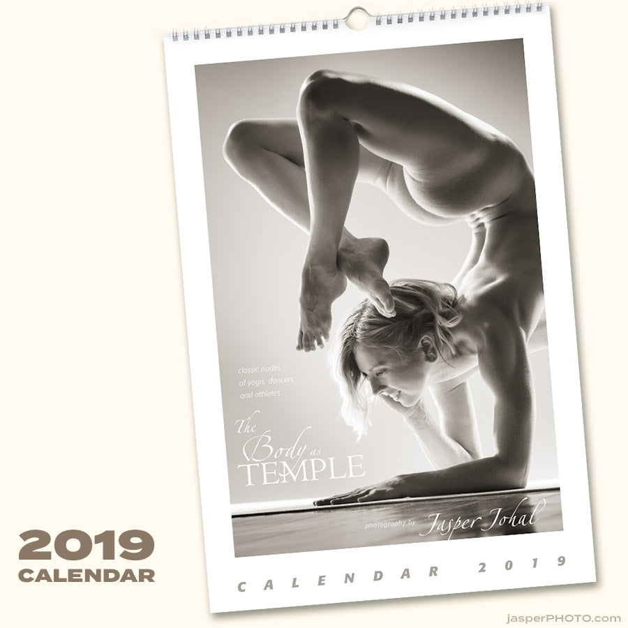 "Jasper Johal's Art Nude ""Body as Temple"" Calendar 2019"